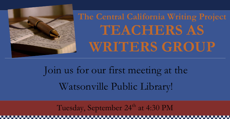 """Header from the """"Teachers As Writers"""" flyer"""